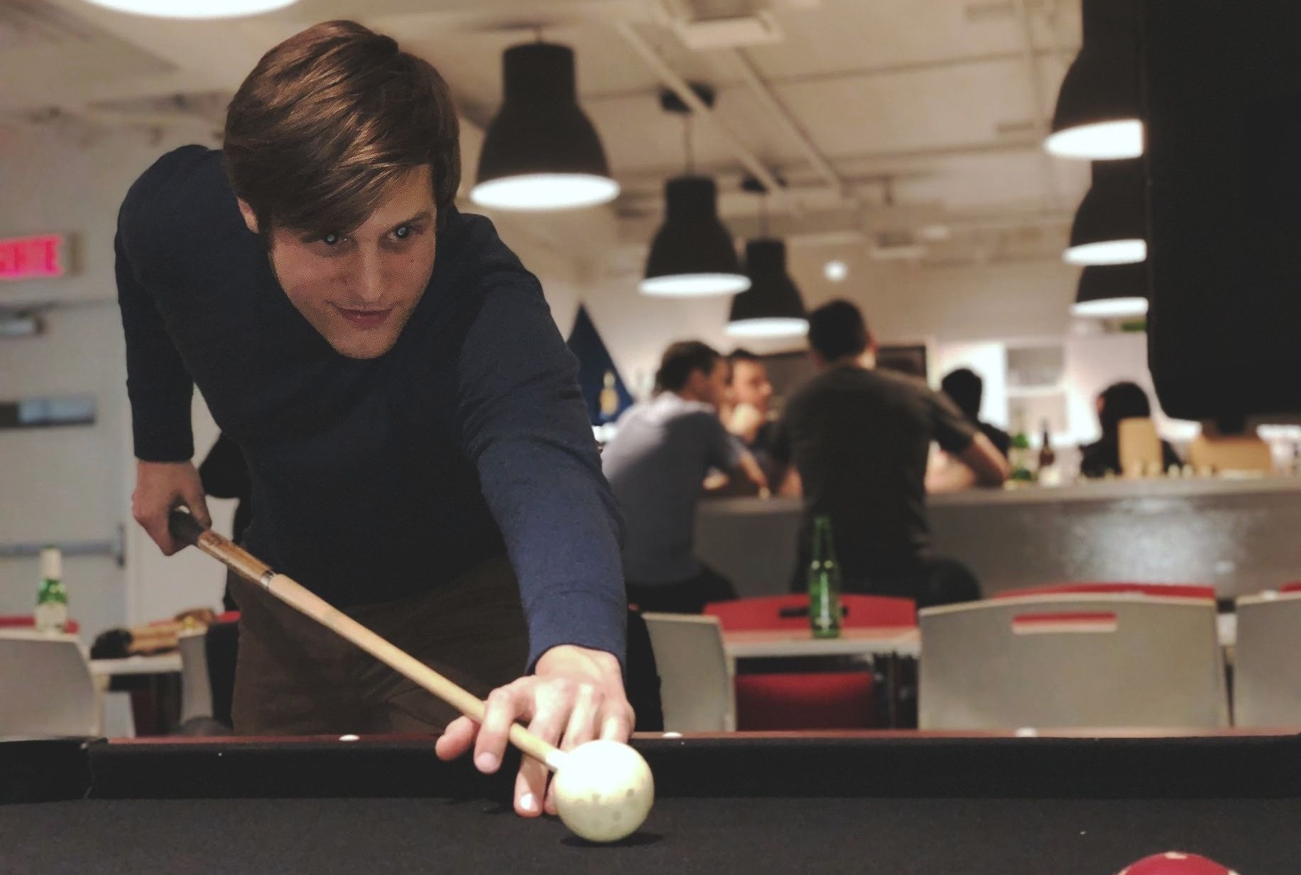 Pierre playing pool copy